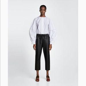 Zara faux leather jogging trousers Sz S